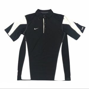 Nike Dri-Fit Golf Polo Black & White Mens Small